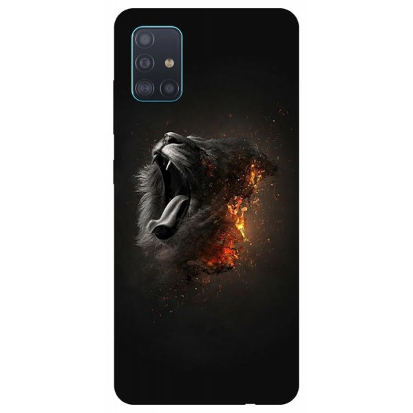 Husa Silicon Soft Upzz Print Samsung Galaxy A51 Model Lion imagine itelmobile.ro 2021