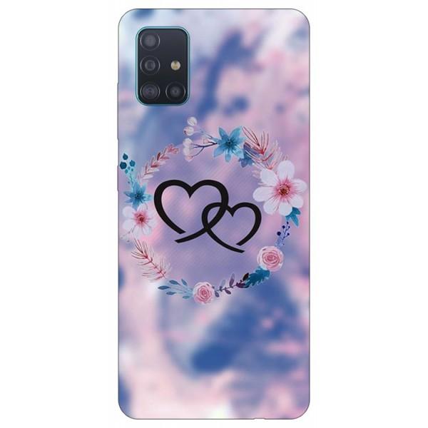 Husa Silicon Soft Upzz Print Samsung Galaxy A51 Model Love imagine itelmobile.ro 2021
