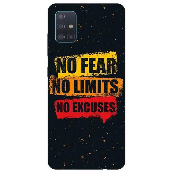 Husa Silicon Soft Upzz Print Samsung Galaxy A51 Model No Fear imagine itelmobile.ro 2021