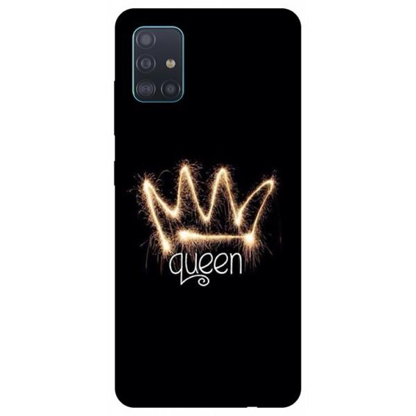Husa Silicon Soft Upzz Print Samsung Galaxy A51 Model Queen imagine itelmobile.ro 2021