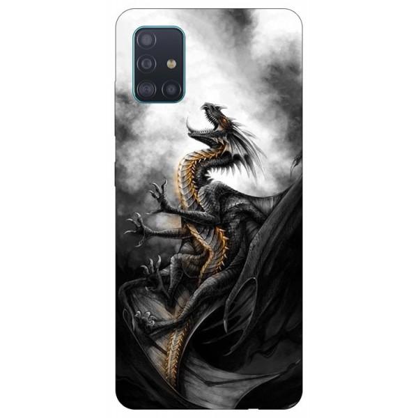 Husa Silicon Soft Upzz Print Samsung Galaxy A71 Model Dragon 1 imagine itelmobile.ro 2021