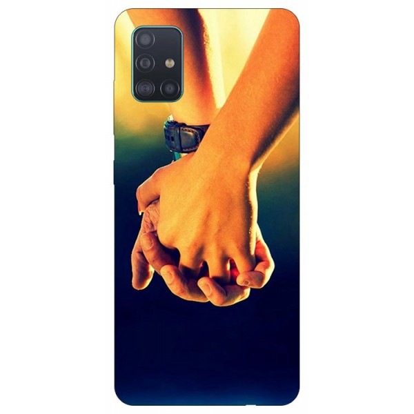 Husa Silicon Soft Upzz Print Samsung Galaxy A51 Model Together imagine itelmobile.ro 2021