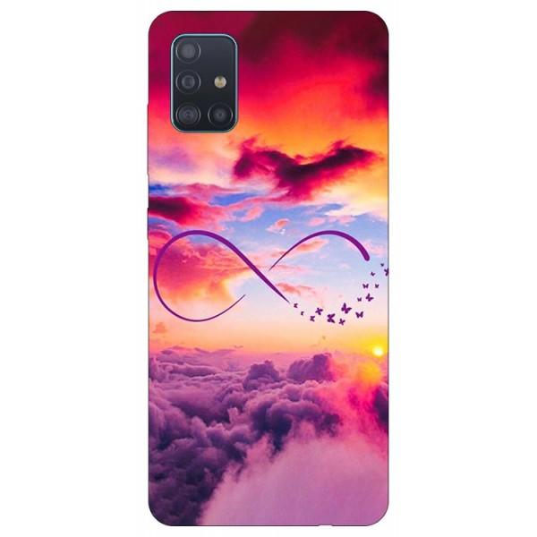 Husa Silicon Soft Upzz Print Samsung Galaxy A71 Model Infinity imagine itelmobile.ro 2021