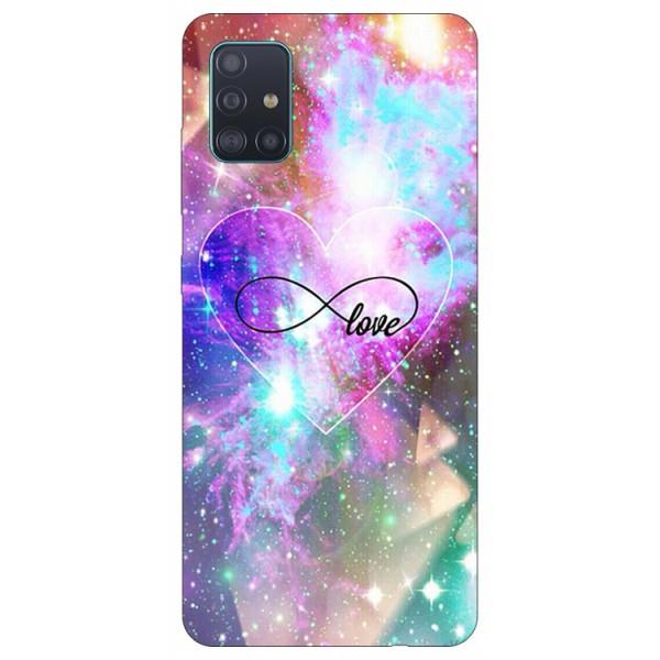 Husa Silicon Soft Upzz Print Samsung Galaxy A71 Model Neon Love imagine itelmobile.ro 2021