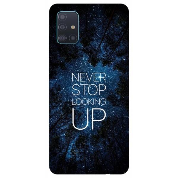 Husa Silicon Soft Upzz Print Samsung Galaxy A71 Model Never Stop imagine itelmobile.ro 2021