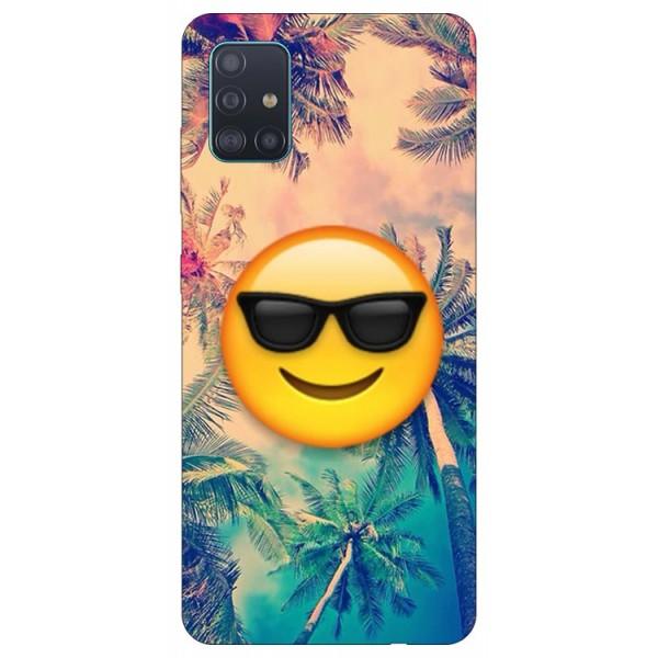 Husa Silicon Soft Upzz Print Samsung Galaxy A71 Model Smile imagine itelmobile.ro 2021