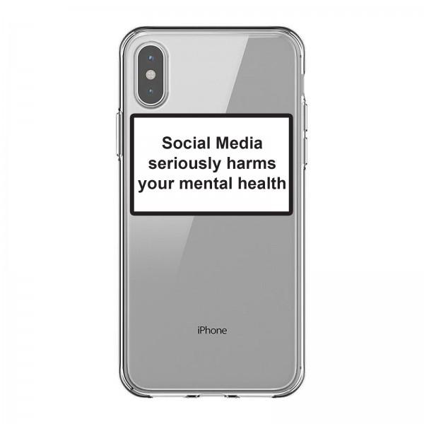 Husa Spate Silicon Upzz Label iPhone Xs Max Model Social Media imagine itelmobile.ro 2021
