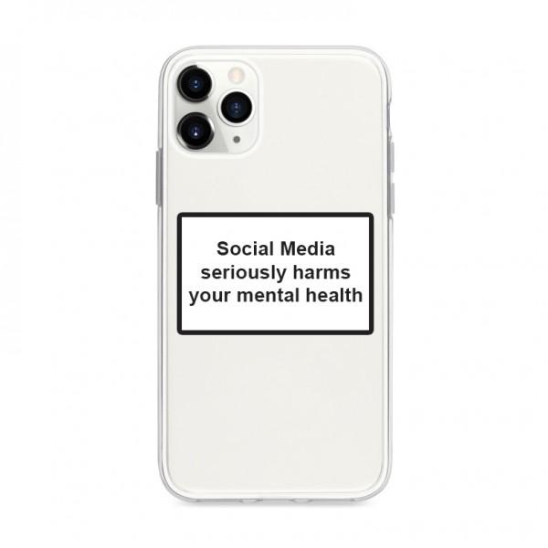 Husa Spate Silicon Upzz Label iPhone 11 Pro Max Model Social imagine itelmobile.ro 2021