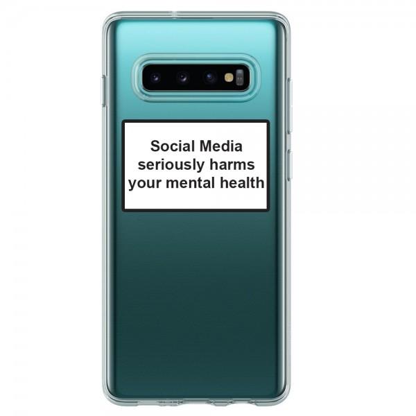 Husa Spate Silicon Upzz Label Samsung Galaxy S10 Model Social imagine itelmobile.ro 2021
