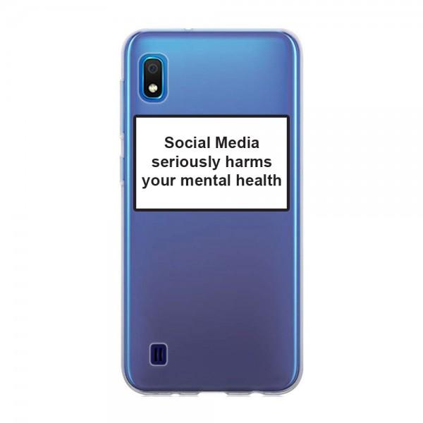 Husa Spate Silicon Upzz Label Samsung Galaxy A10 Model Social imagine itelmobile.ro 2021