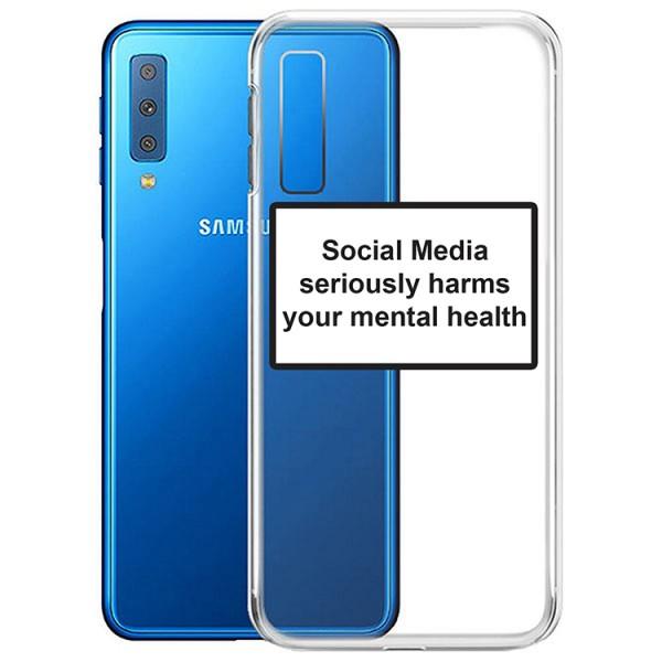 Husa Spate Silicon Upzz Label Samsung Galaxy A7 Model Social imagine itelmobile.ro 2021