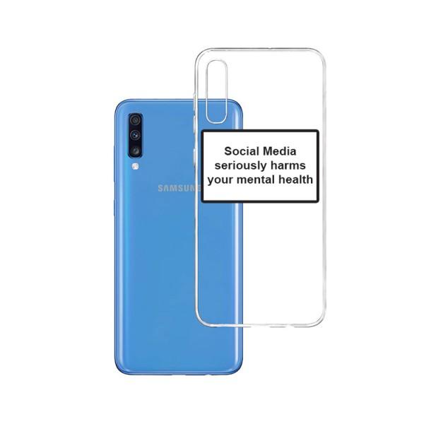 Husa Spate Silicon Upzz Label Samsung Galaxy A70 Model Social imagine itelmobile.ro 2021
