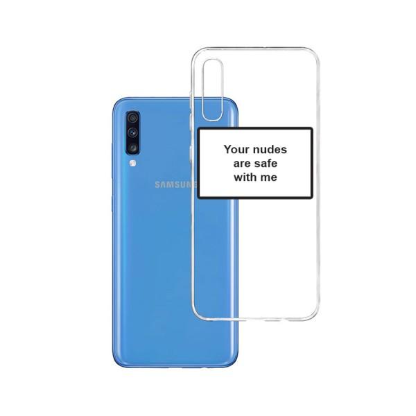 Husa Spate Silicon Upzz Label Samsung Galaxy A70 Model Nudes imagine itelmobile.ro 2021