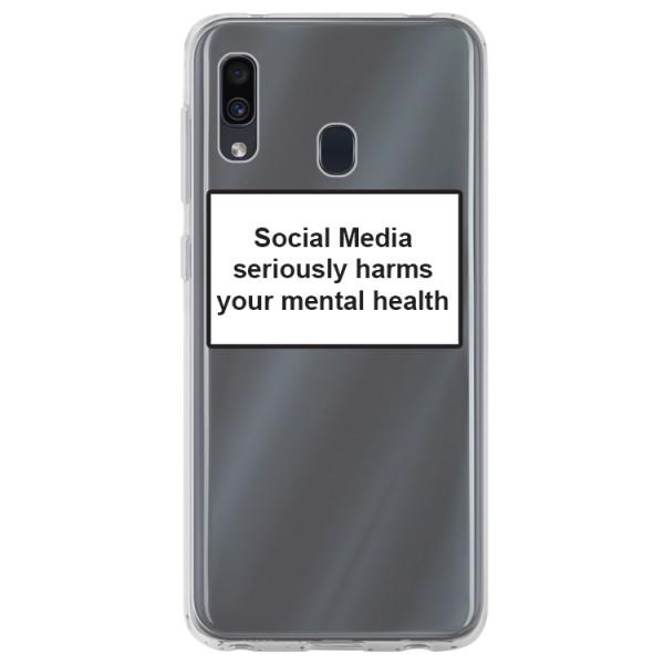Husa Spate Silicon Upzz Label Samsung Galaxy A20e Model Social imagine itelmobile.ro 2021