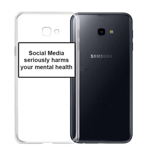 Husa Spate Silicon Upzz Label Samsung Galaxy J4+ Plus Model Social imagine itelmobile.ro 2021