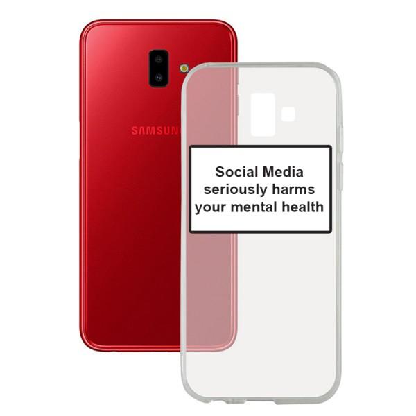 Husa Spate Silicon Upzz Label Samsung Galaxy J6+ Plus Model Social imagine itelmobile.ro 2021