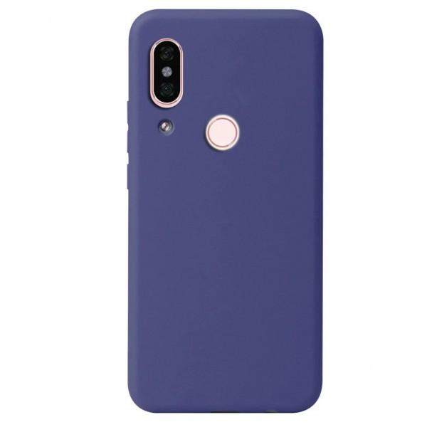 Husa Premium Upzz Soft Silicone Samsung Galaxy A20e Cu Interior Alcantara ,navy Blue imagine itelmobile.ro 2021