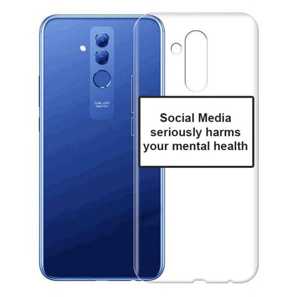 Husa Spate Silicon Upzz Label Huawei Mate 20 Lite Model Social imagine itelmobile.ro 2021