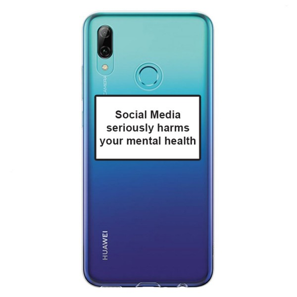 Husa Spate Silicon Upzz Label Huawei P Smart 2019 Model Social imagine itelmobile.ro 2021