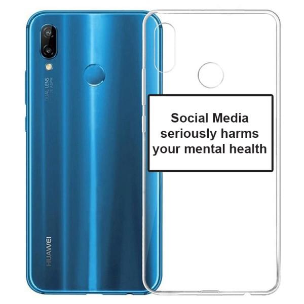 Husa Spate Silicon Upzz Label Huawei P20 Lite Model Social imagine itelmobile.ro 2021