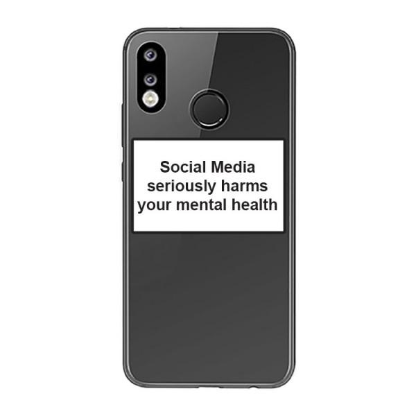 Husa Spate Silicon Upzz Label Huawei P30 Lite Model Social imagine itelmobile.ro 2021