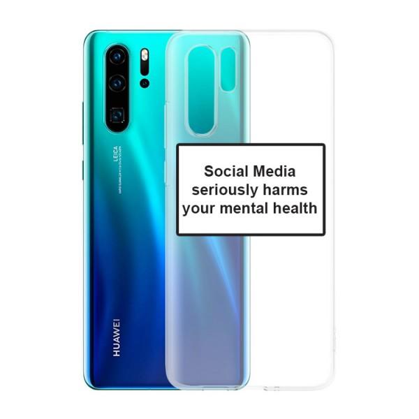 Husa Spate Silicon Upzz Label Huawei P30 Pro Model Social imagine itelmobile.ro 2021