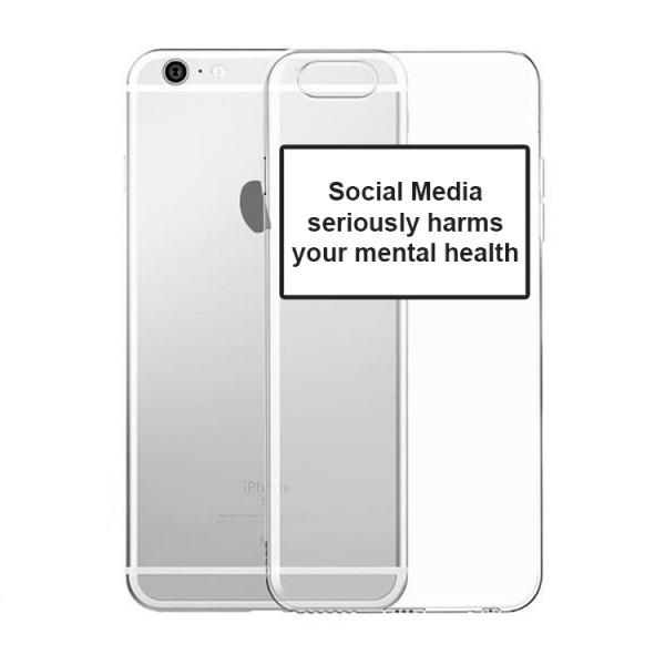 Husa Spate Silicon Upzz Label iPhone 6 / 6s Plus Model Social imagine itelmobile.ro 2021
