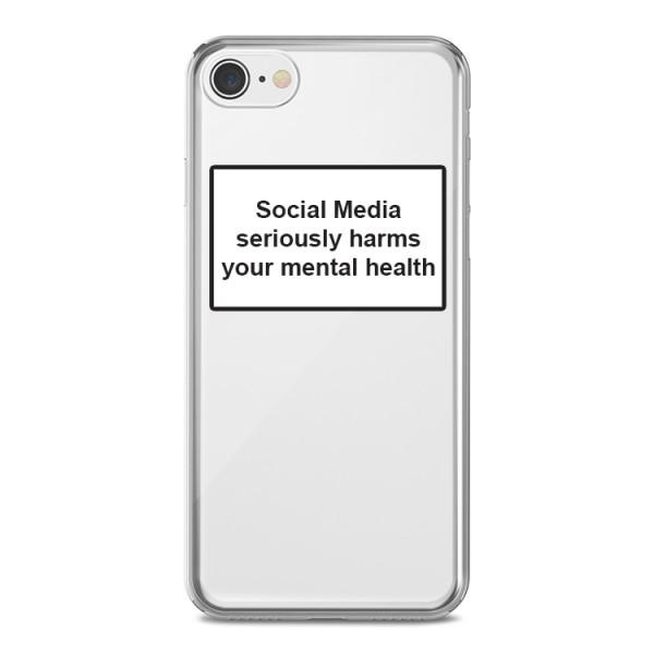 Husa Spate Silicon Upzz Label iPhone 7 / 8 Model Social imagine itelmobile.ro 2021