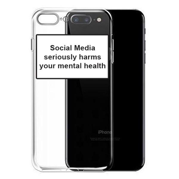 Husa Spate Silicon Upzz Label iPhone 7 Plus / 8 Plus Model Social imagine itelmobile.ro 2021