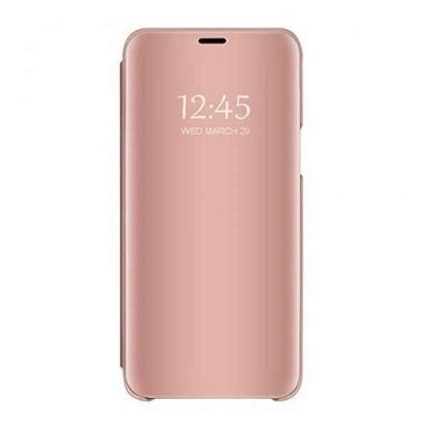 Husa Tip Carte Mirror Huawei Mate 30 Lite Cu Folie Sticla Upzz Glass Inclusa In Pachet, Rose Gold imagine itelmobile.ro 2021