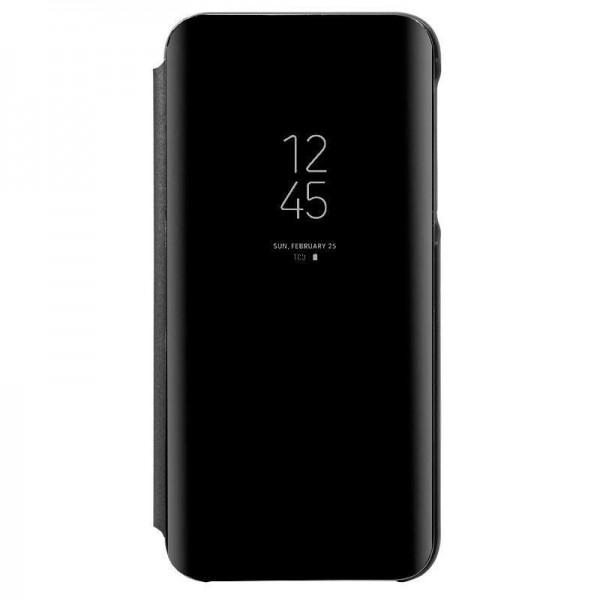 Husa Tip Carte Mirror Huawei Mate 30 Lite Cu Folie Sticla Upzz Glass Inclusa In Pachet, Negru imagine itelmobile.ro 2021