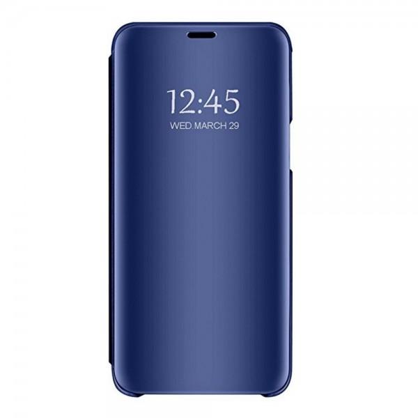 Husa Tip Carte Mirror Huawei Mate 30 Lite Cu Folie Sticla Upzz Glass Inclusa In Pachet, Albastru imagine itelmobile.ro 2021