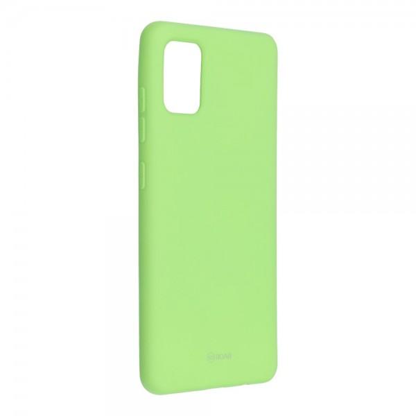 Husa Spate Silicon Roar Jelly Samsung Galaxy A51 Verde Lime imagine itelmobile.ro 2021