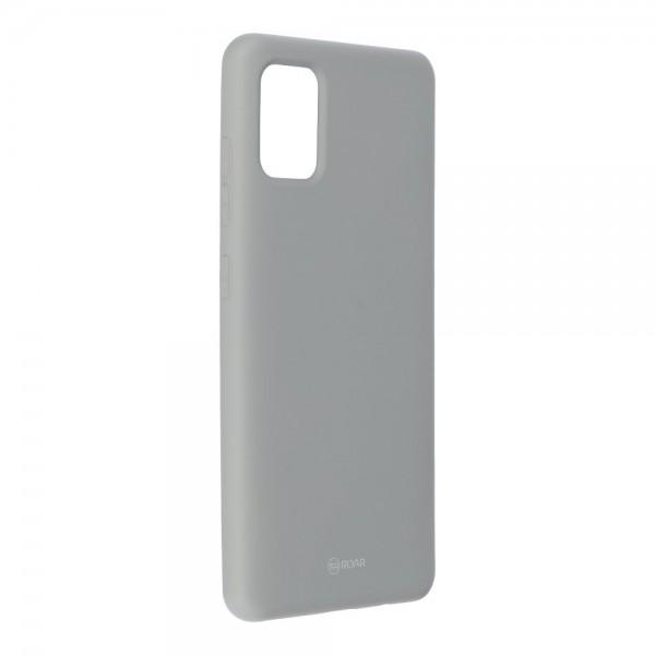 Husa Spate Silicon Roar Jelly Samsung Galaxy A51 Gri imagine itelmobile.ro 2021