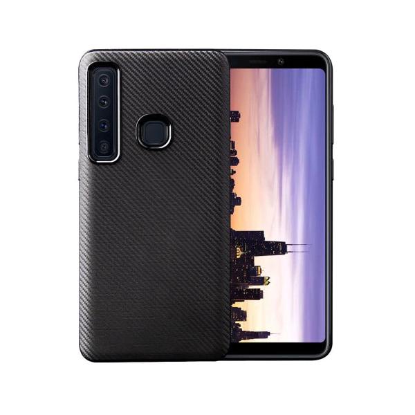 Husa Spate Upzz Carbon Fiber Samsung Galaxy A9 2018 Neagra imagine itelmobile.ro 2021