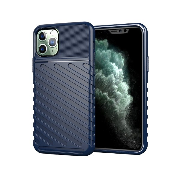 Husa Spate Upzz Thunder Case Antishock iPhone 11 Pro , Silicon , Albastru imagine itelmobile.ro 2021