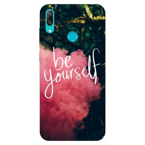 Husa Silicon Soft Upzz Print Huawei Y7 2019 Model Be Yourself imagine itelmobile.ro 2021