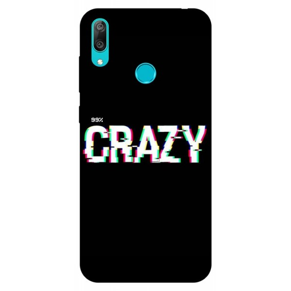 Husa Silicon Soft Upzz Print Huawei Y7 2019 Model Crazy imagine itelmobile.ro 2021