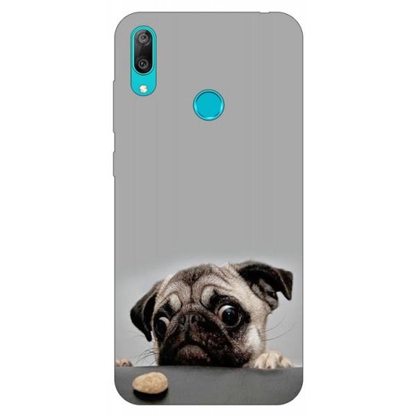 Husa Silicon Soft Upzz Print Huawei Y7 2019 Model Dog imagine itelmobile.ro 2021