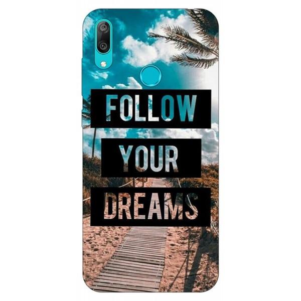 Husa Silicon Soft Upzz Print Huawei Y7 2019 Model Dreams imagine itelmobile.ro 2021