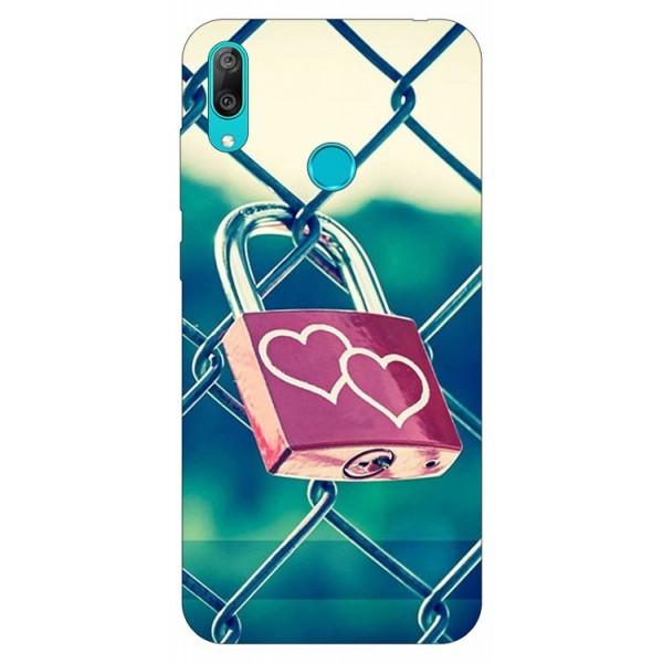 Husa Silicon Soft Upzz Print Huawei Y7 2019 Model Heart Lock imagine itelmobile.ro 2021