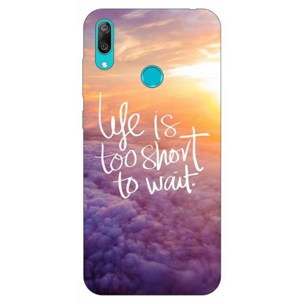 Husa Silicon Soft Upzz Print Huawei Y7 2019 Model Life imagine itelmobile.ro 2021