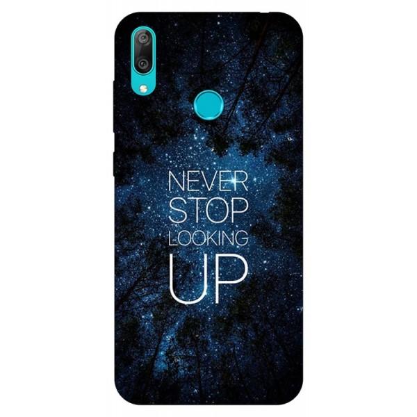 Husa Silicon Soft Upzz Print Huawei Y7 2019 Model Never Stop imagine itelmobile.ro 2021