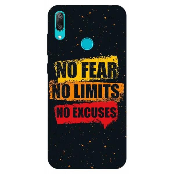 Husa Silicon Soft Upzz Print Huawei Y7 2019 Model No Fear imagine itelmobile.ro 2021