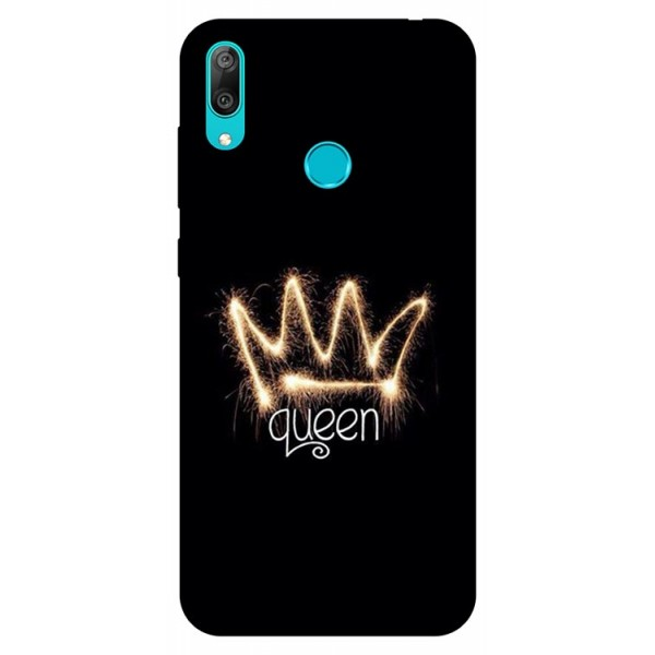 Husa Silicon Soft Upzz Print Huawei Y7 2019 Model Queen imagine itelmobile.ro 2021