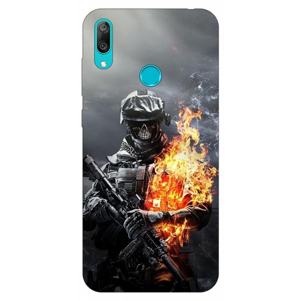Husa Silicon Soft Upzz Print Huawei Y7 2019 Model Soldier imagine itelmobile.ro 2021