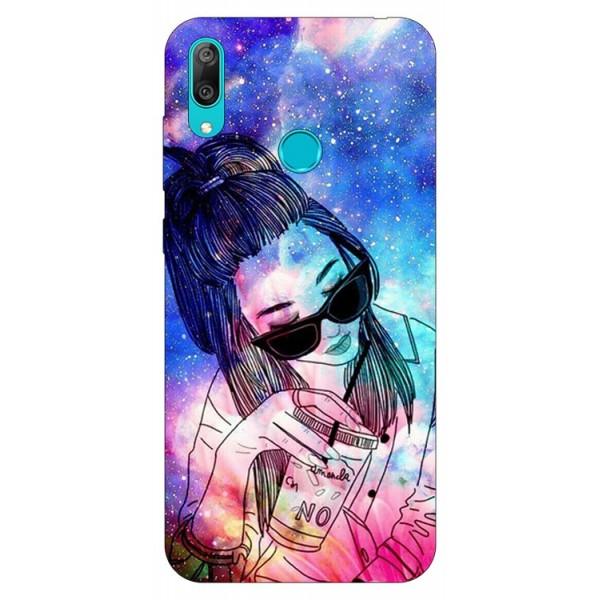 Husa Silicon Soft Upzz Print Huawei Y7 2019 Model Universe Girl imagine itelmobile.ro 2021