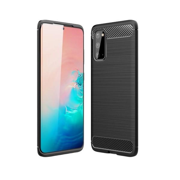 Husa Spate Carbon Pro Samsung Galaxy S20 Negru imagine itelmobile.ro 2021