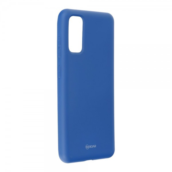 Husa Spate Silicon Roar Jelly Samsung Galaxy S20 Navy Albastru imagine itelmobile.ro 2021