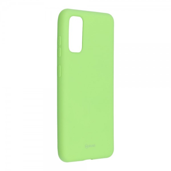 Husa Spate Silicon Roar Jelly Samsung Galaxy S20 Verde Lime imagine itelmobile.ro 2021